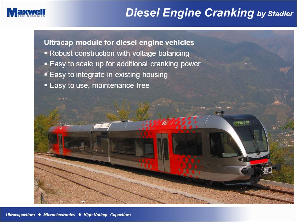 Diesel Engine Cranking by Stadler