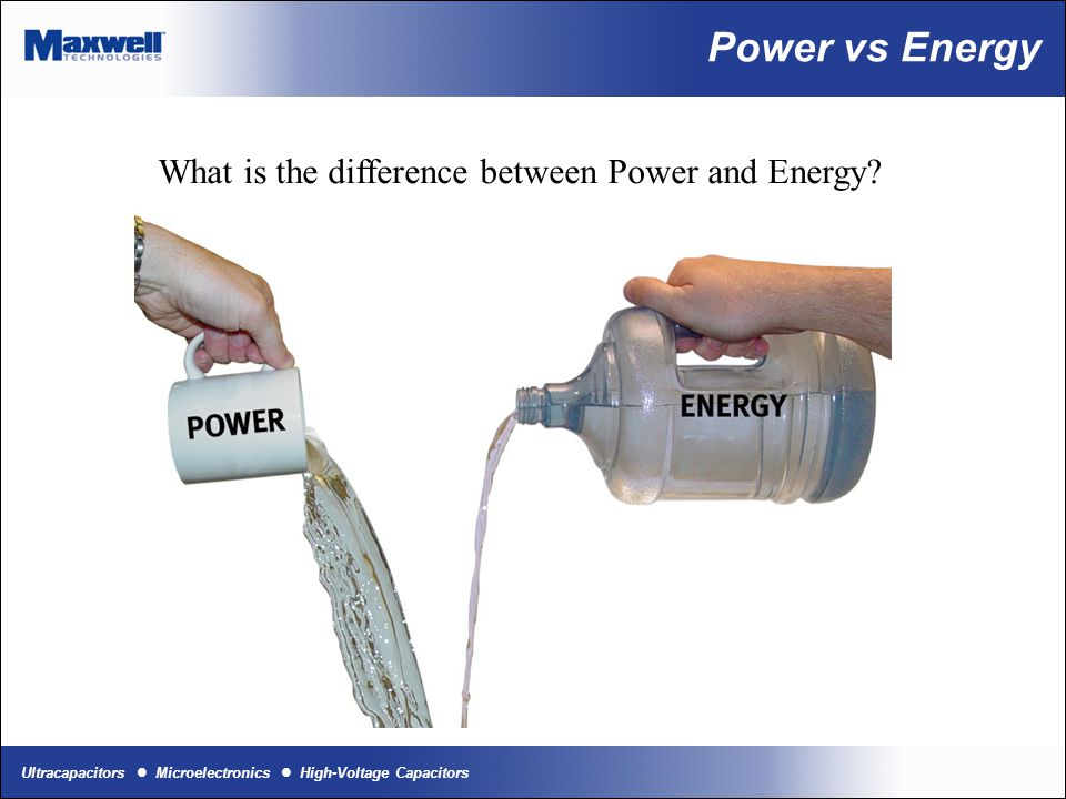 What is the difference between Power and Energy