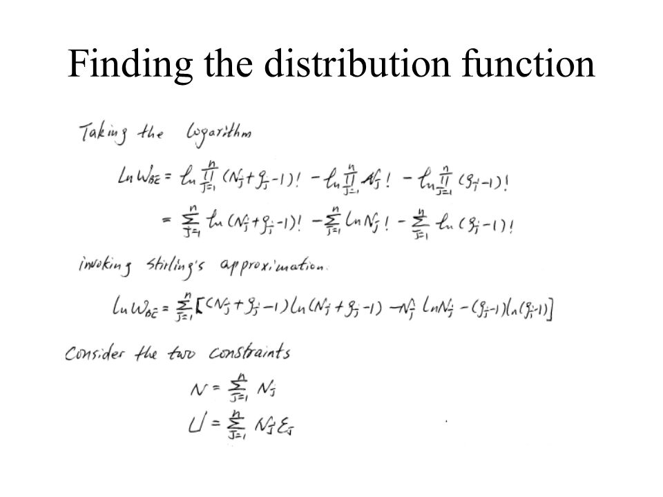 Finding the distribution function