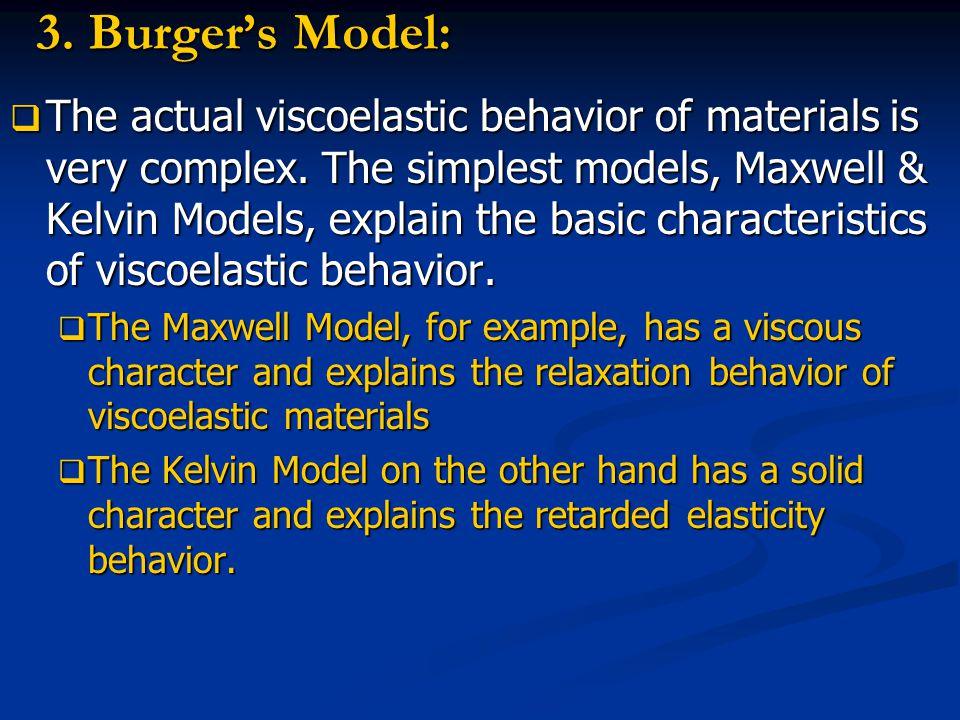 3. Burger's Model: