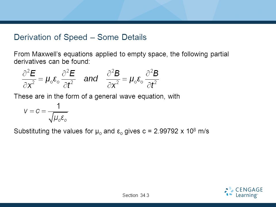 Derivation of Speed – Some Details