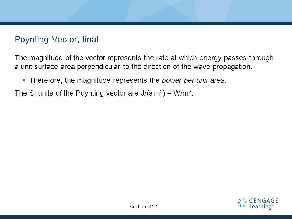 Poynting Vector, final