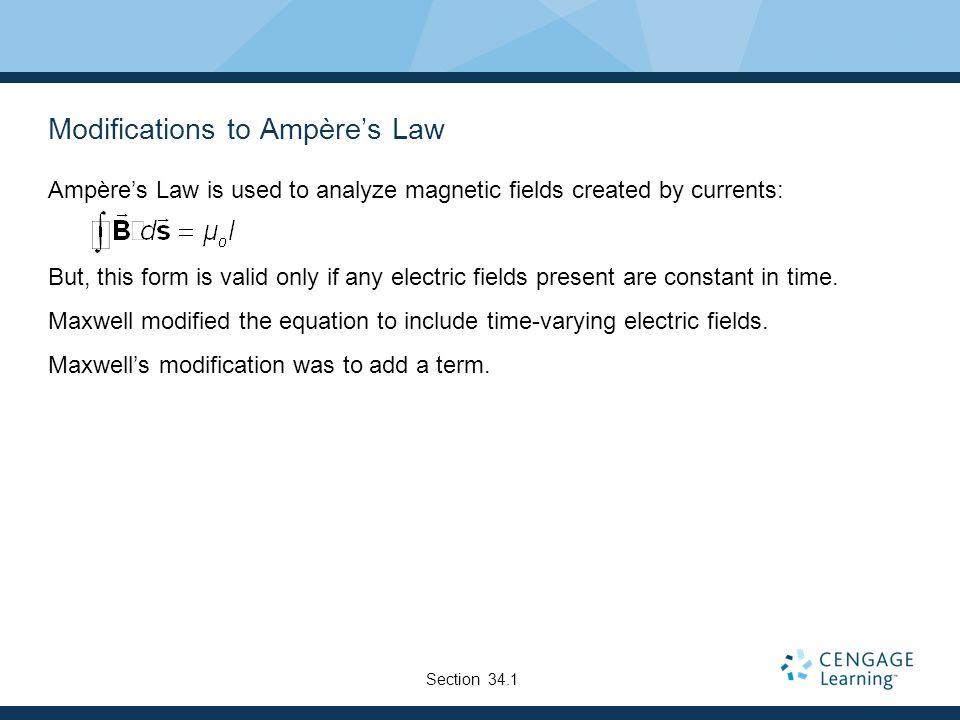Modifications to Ampère's Law