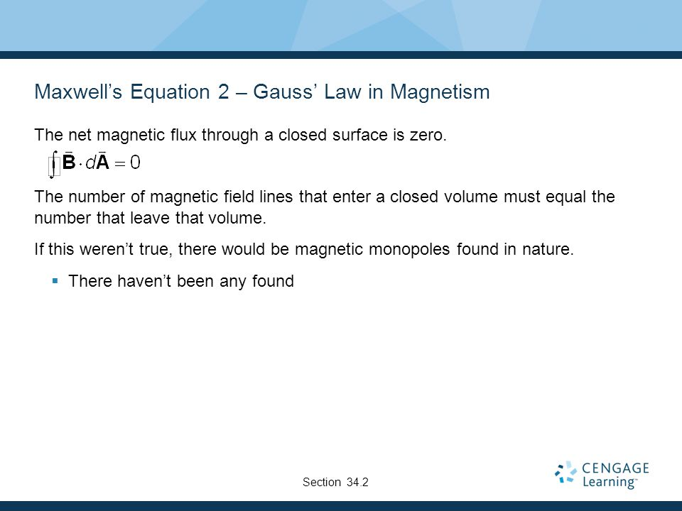 Maxwell's Equation 2 – Gauss' Law in Magnetism