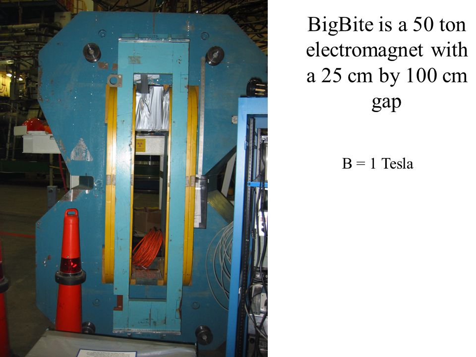 BigBite is a 50 ton electromagnet with a 25 cm by 100 cm gap