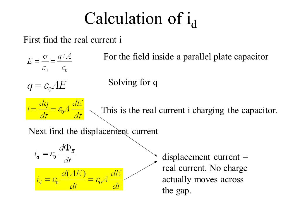Calculation of id First find the real current i