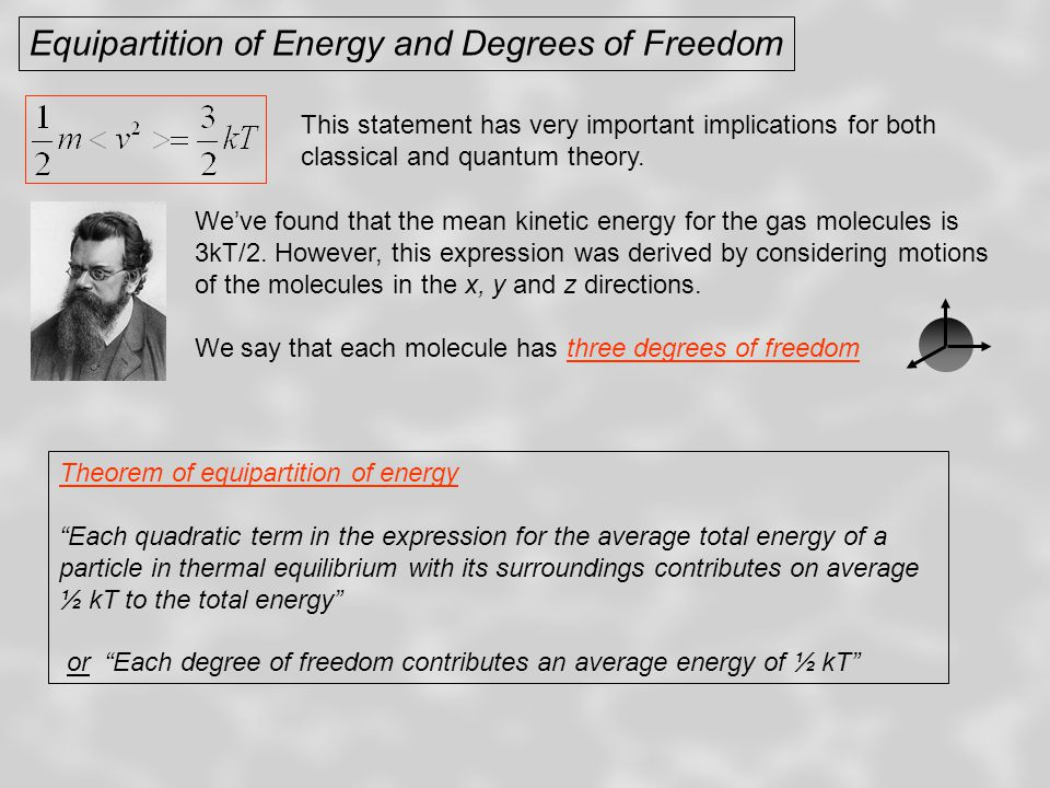 Equipartition of Energy and Degrees of Freedom