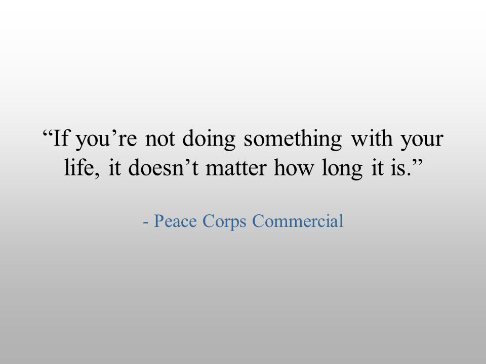 - Peace Corps Commercial