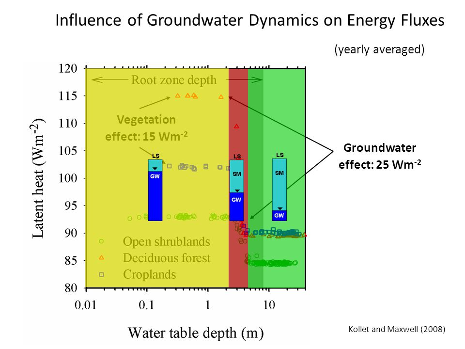 Influence of Groundwater Dynamics on Energy Fluxes