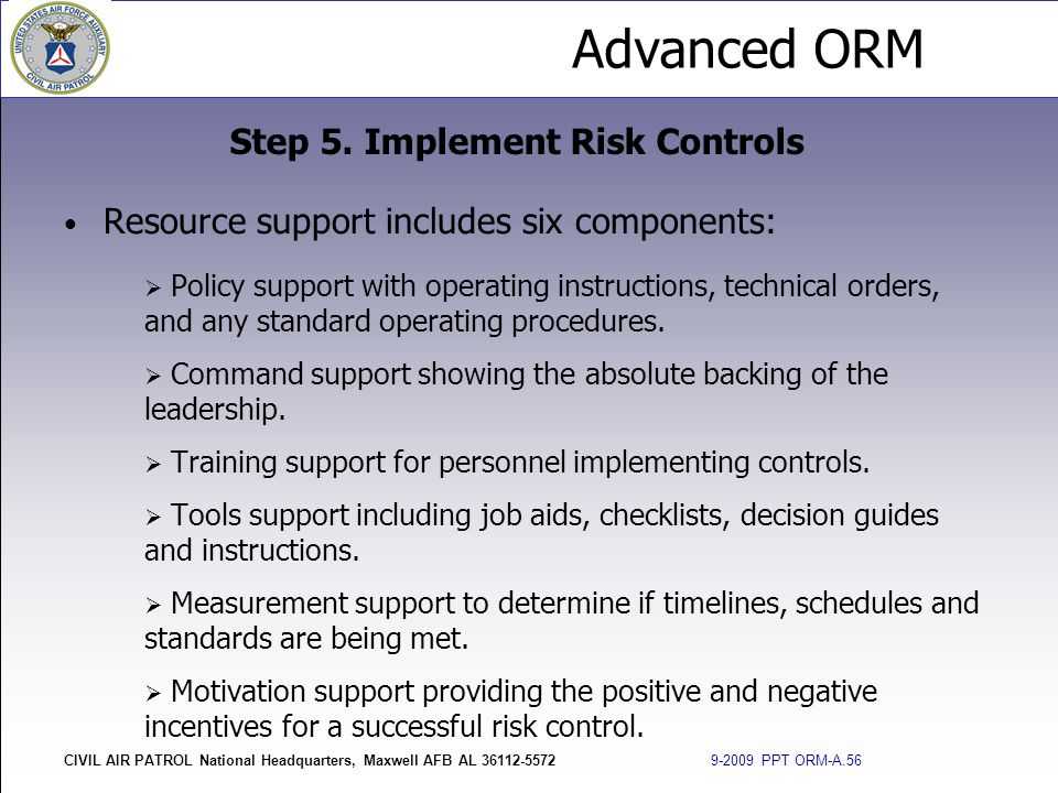 Step 5. Implement Risk Controls