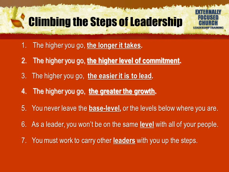 Climbing the Steps of Leadership