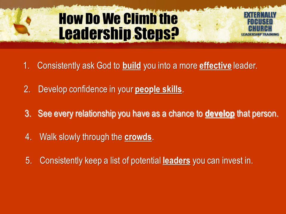 How Do We Climb the Leadership Steps