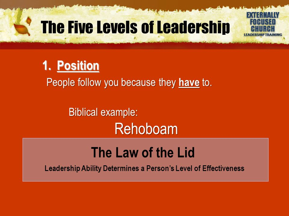 The Five Levels of Leadership