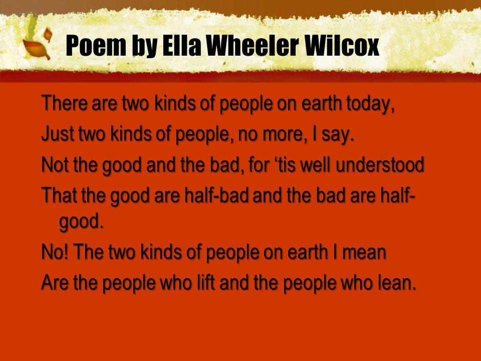 Poem by Ella Wheeler Wilcox