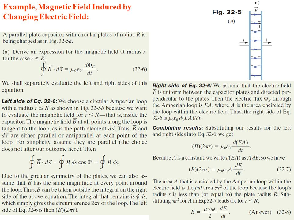 Example, Magnetic Field Induced by