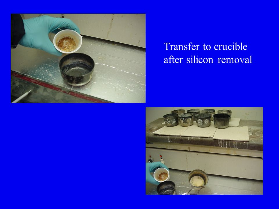 Transfer to crucible after silicon removal
