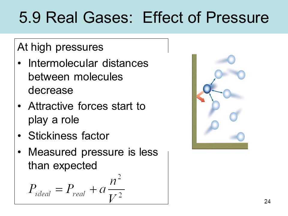 5.9 Real Gases: Effect of Pressure