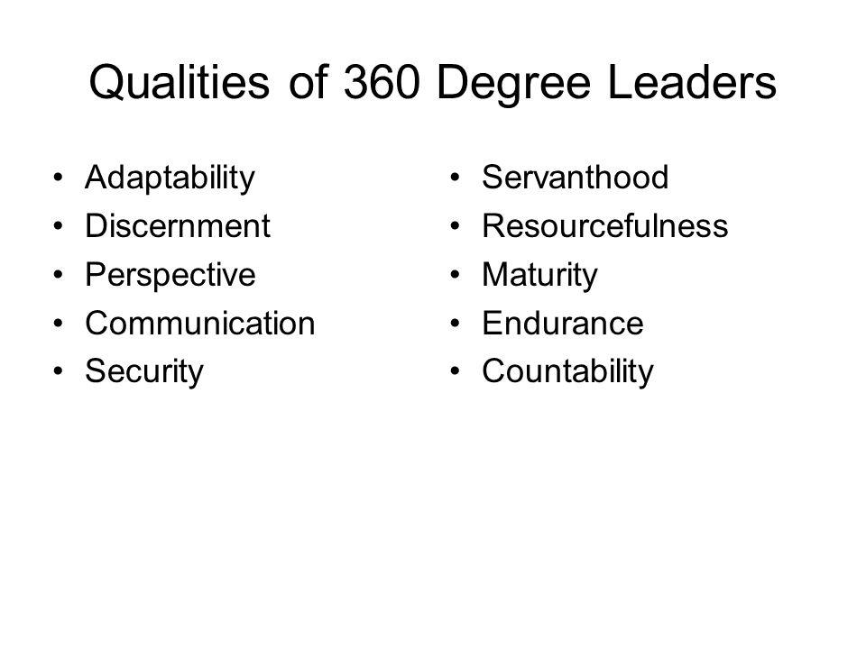Qualities of 360 Degree Leaders