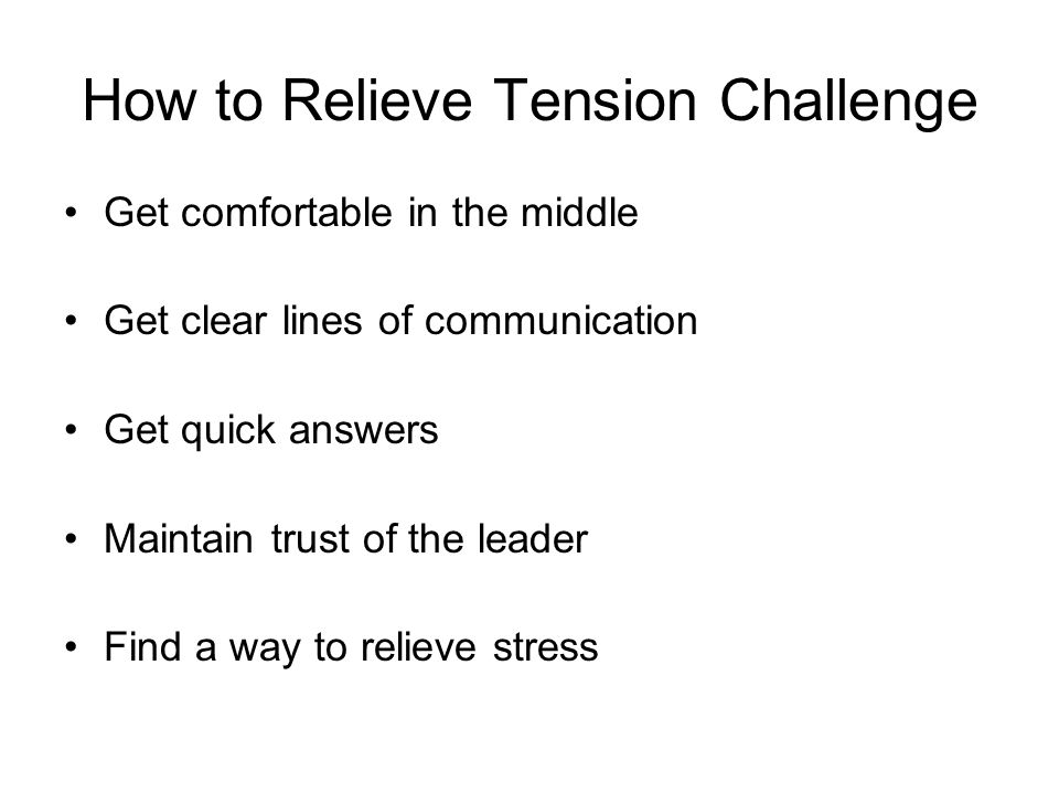 How to Relieve Tension Challenge