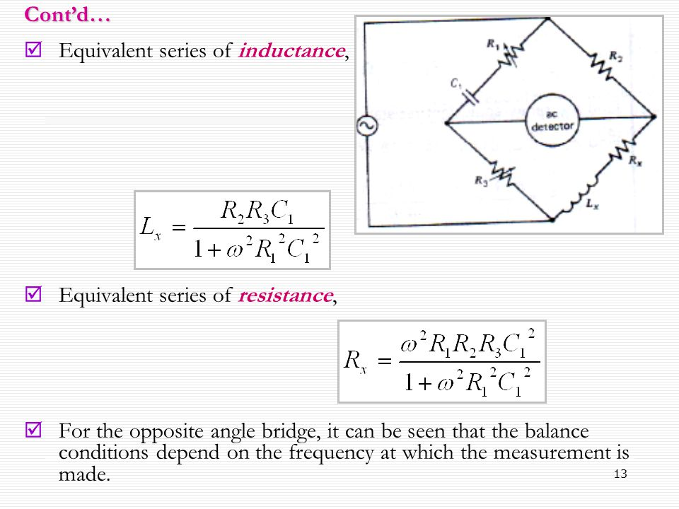 Equivalent series of inductance,