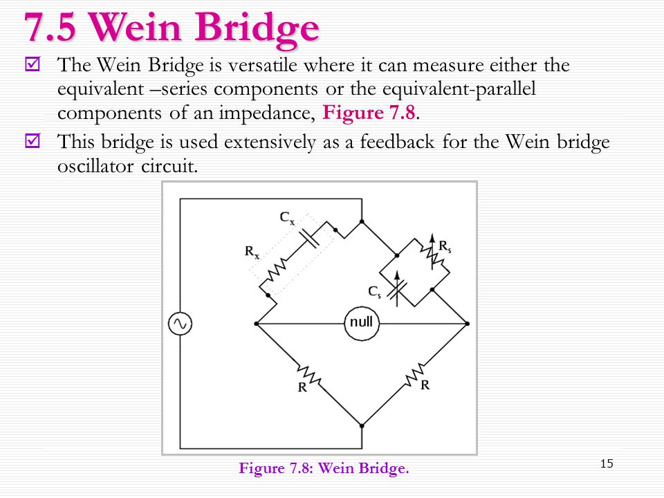 7.5 Wein Bridge