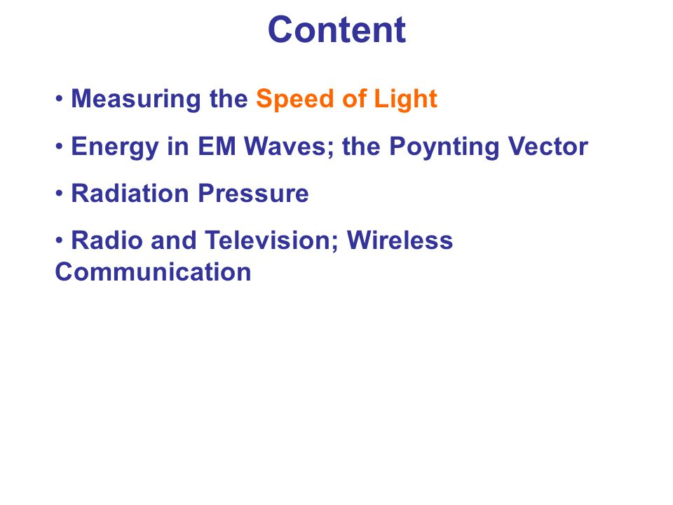 Content Measuring the Speed of Light