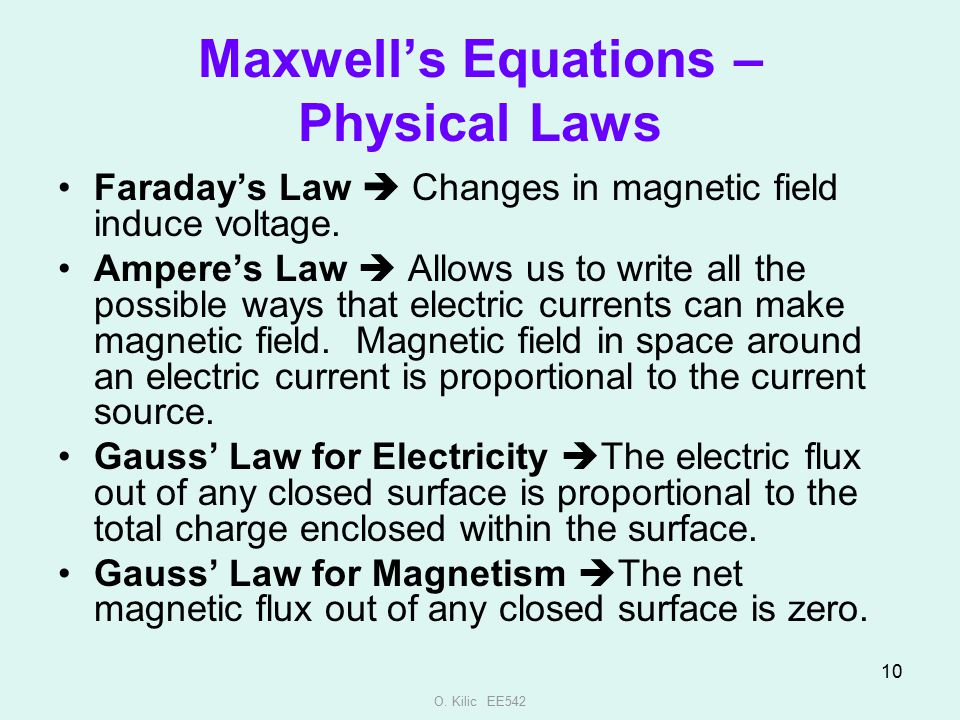 Maxwell's Equations – Physical Laws
