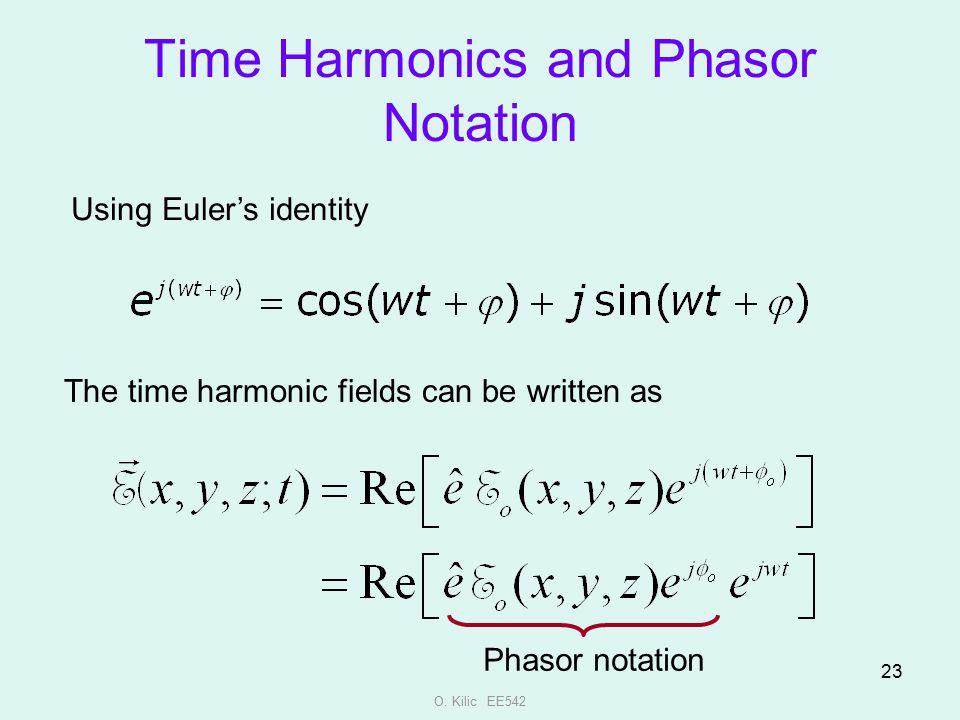 Time Harmonics and Phasor Notation