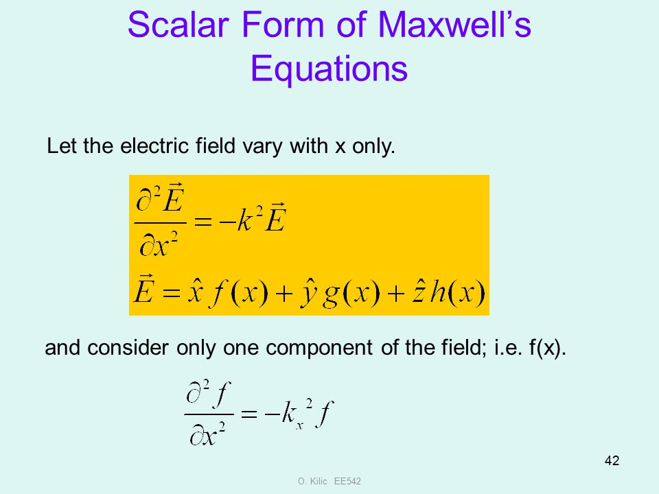 Scalar Form of Maxwell's Equations