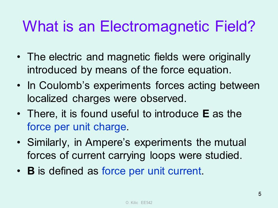 What is an Electromagnetic Field