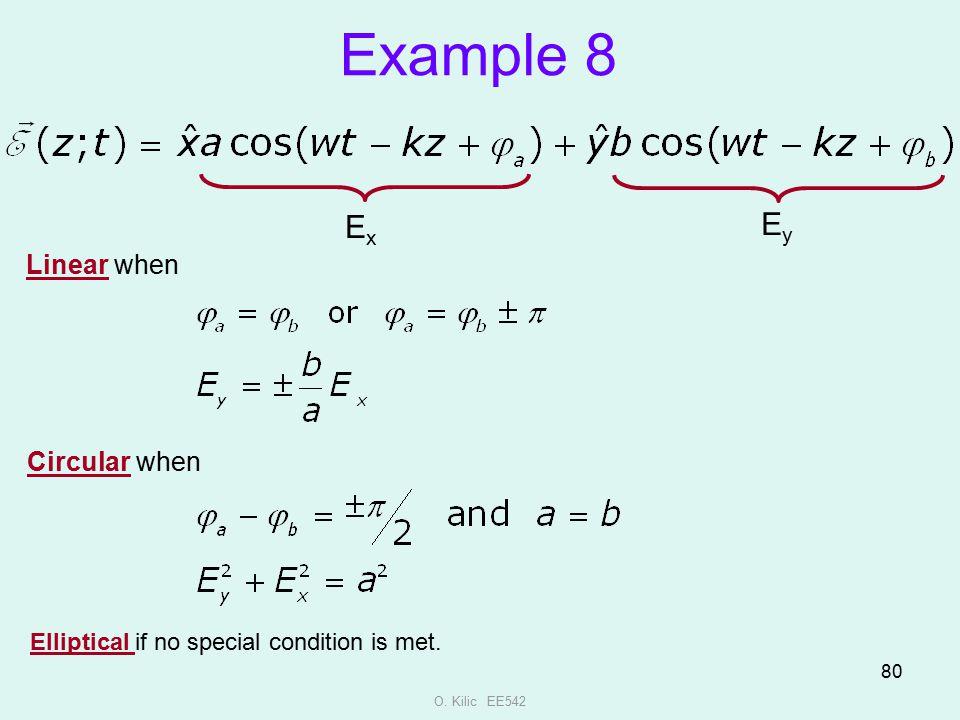 Example 8 Ey Ex Linear when Circular when