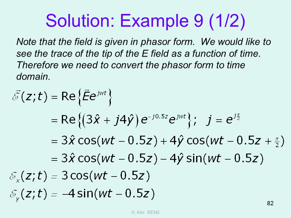 Solution: Example 9 (1/2)