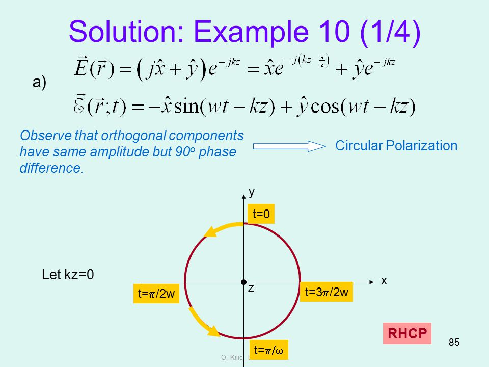 Solution: Example 10 (1/4) a)