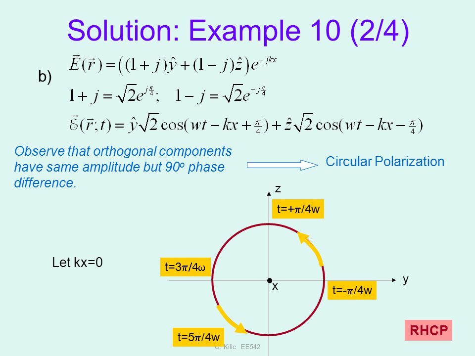 Solution: Example 10 (2/4) b)