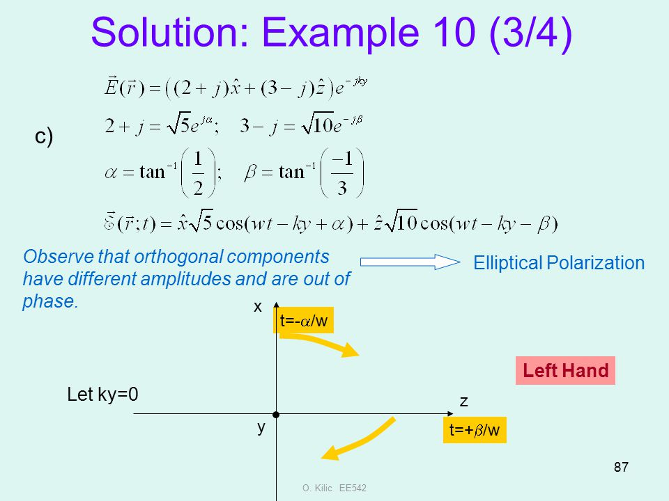 Solution: Example 10 (3/4) c)