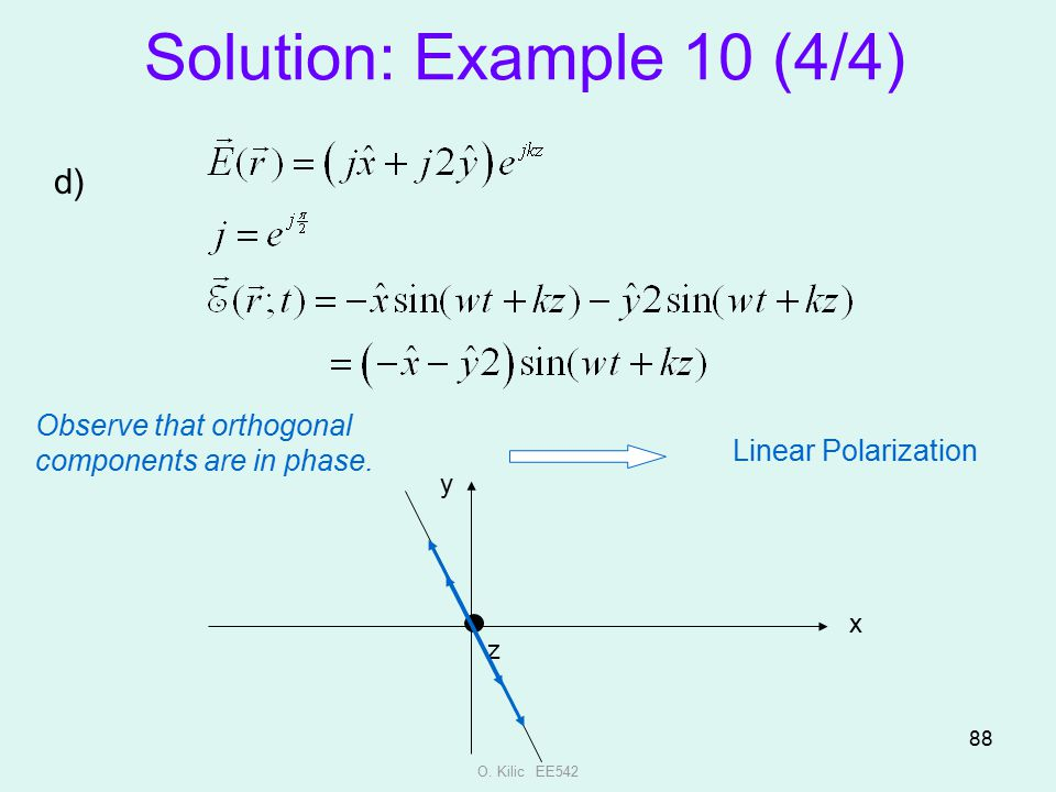 Solution: Example 10 (4/4) d)