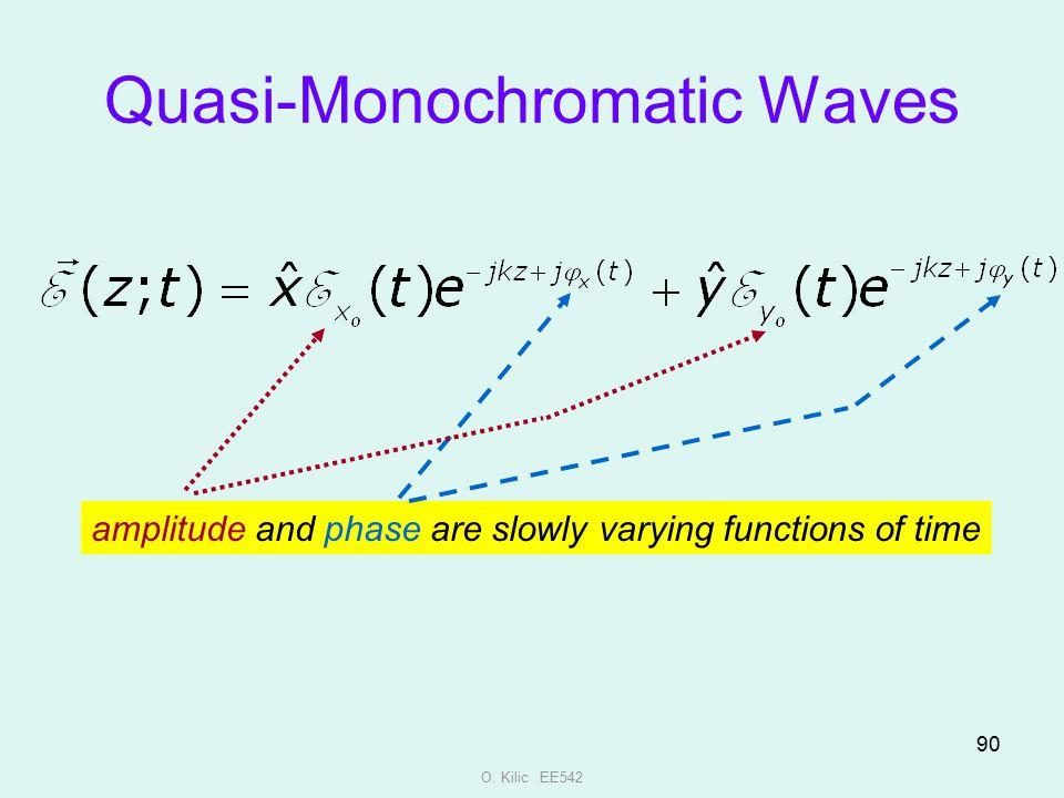 Quasi-Monochromatic Waves