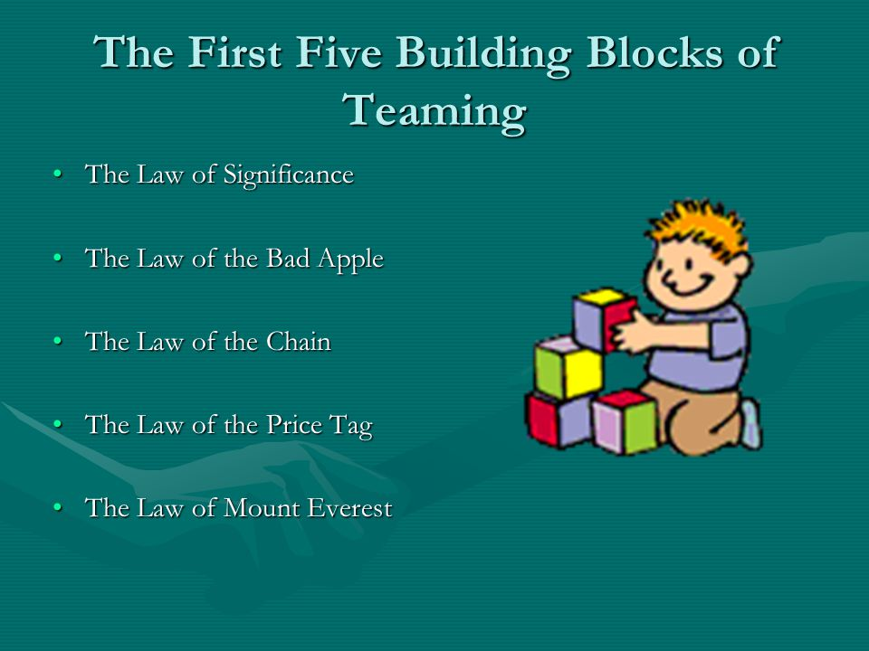The First Five Building Blocks of Teaming