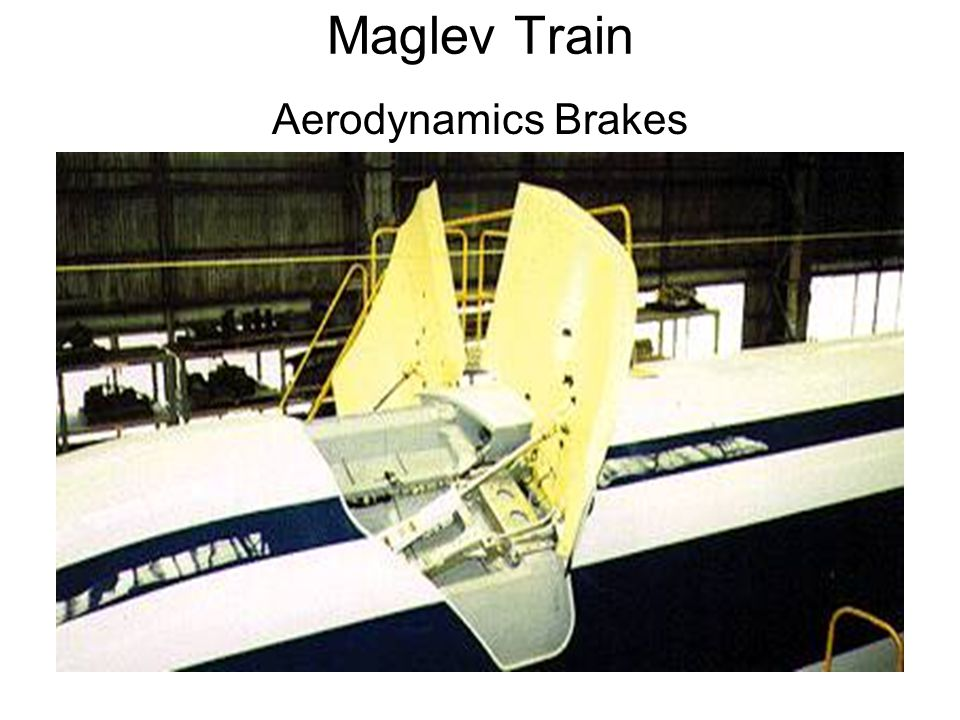 Maglev Train Aerodynamics Brakes