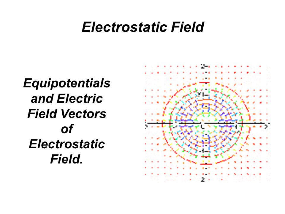 Equipotentials and Electric Field Vectors of