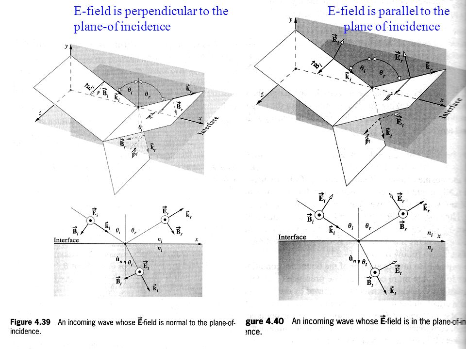 E-field is perpendicular to the plane-of incidence
