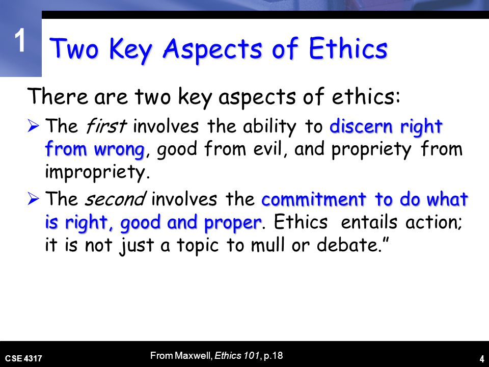 Two Key Aspects of Ethics
