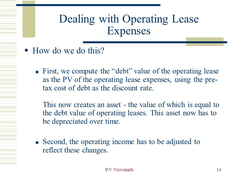 Dealing with Operating Lease Expenses