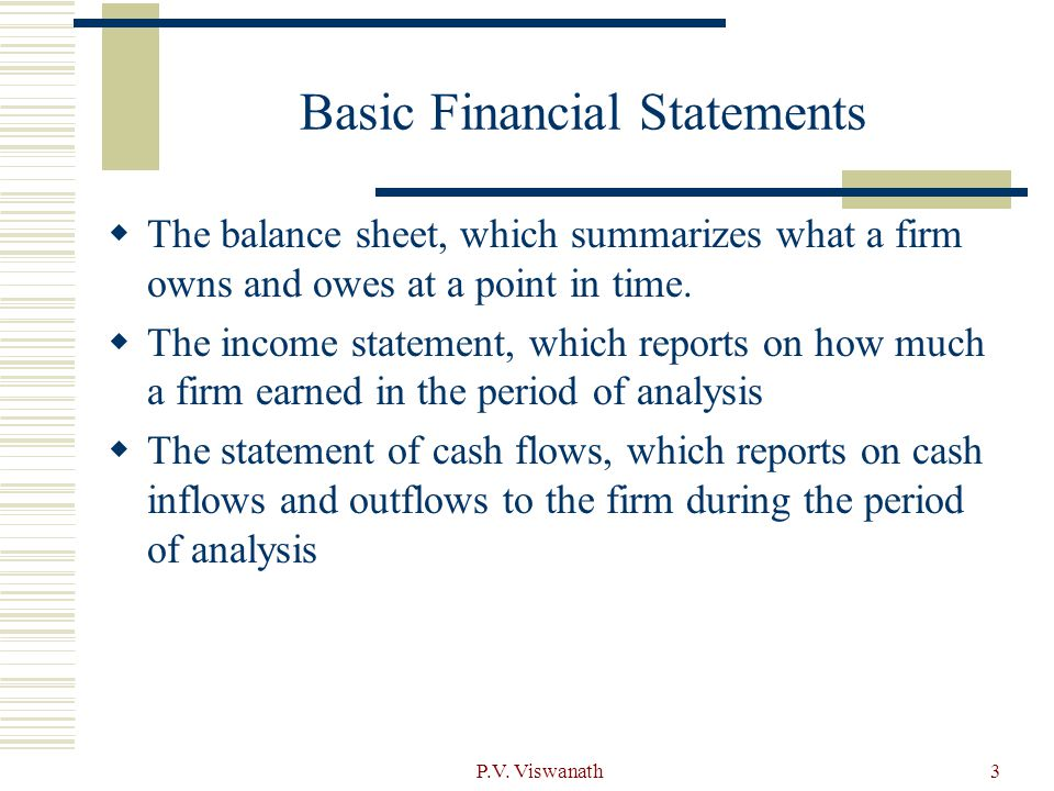 four basic financial statements A look at the 4 key parts of a financial statement: the balance sheet & income statement are essential financial statements help you analyze a company's financial position & performance.