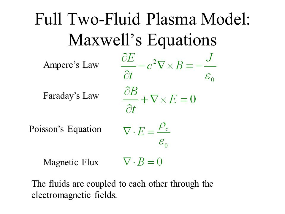 Full Two-Fluid Plasma Model: Maxwell's Equations