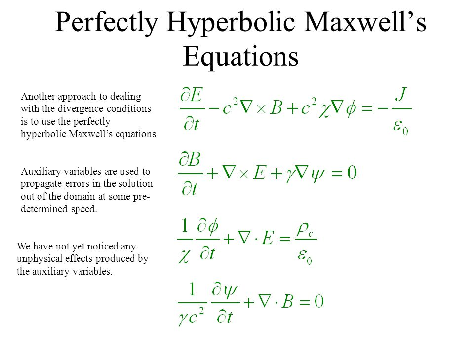 Perfectly Hyperbolic Maxwell's Equations