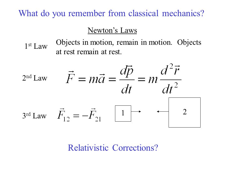 What do you remember from classical mechanics