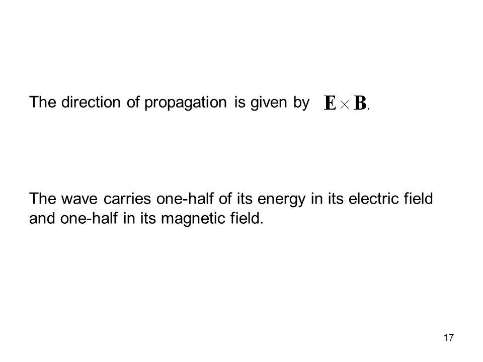 The direction of propagation is given by