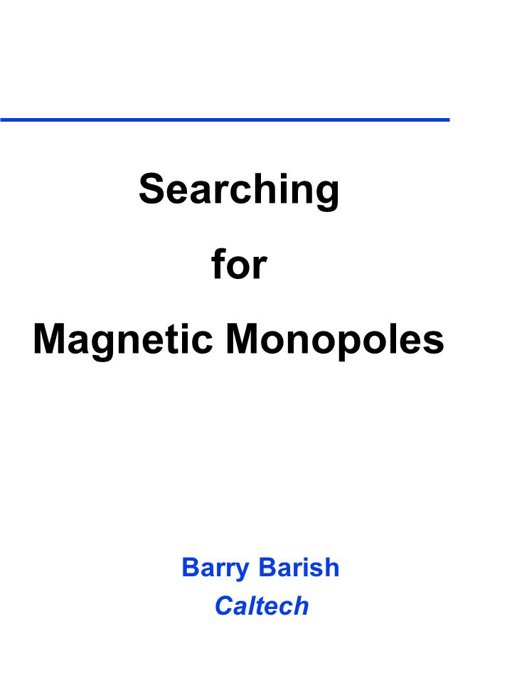 Searching for Magnetic Monopoles