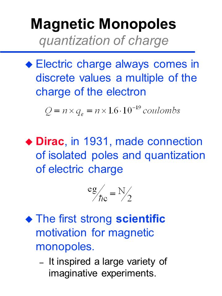 Magnetic Monopoles quantization of charge